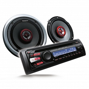 Автомагнитола sony dsx-a110u/ mp3, flac, wma